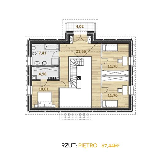 alzacja projekt katalogowy współczesne domy rzut piętra
